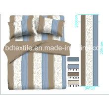 Tops 100% Polyester Printed Stripes Design for Bedding Sets