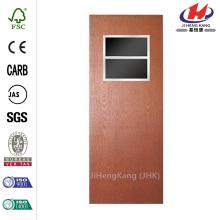 32 in. X 80 in. Smooth Flush Hardboard mit Fenster Solid Core Unfertige Composite Innen-Tür-Platte