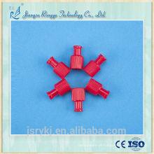CE e ISO aprovado médico descartável vermelho Combi rolha