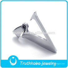 Initial Letter V Design Pendant High Quality Cutting Metal Silver Cutting Letter Pendant Jewelry