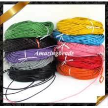 Leather String, Colored Real Cow Leather Cord, Dia. 2mm 100meters Length, Wrap Leather Bracelet Supplies, 10 Colors Available (RF048)