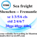 Shenzhen Global Freight Forwarder agente Fremantle