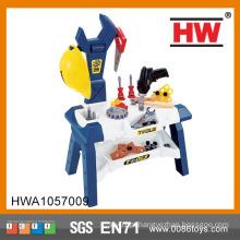 Alta qualidade crianças plástico brinquedo kit de ferramentas conjunto