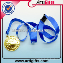 Newest fashion lanyard nylon string with medal