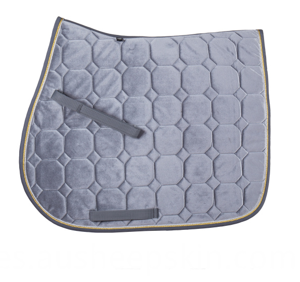 Velour Quilting Saddle Pad with Cord