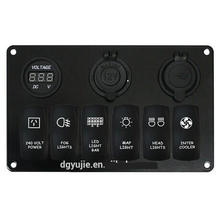 Car USB Charger Socket and Panel & Switch Panel with Power Socket