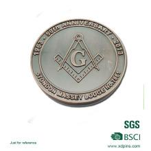 Подгонянный металл масонской сувенирных монет с логотипом для подарка Промотирования