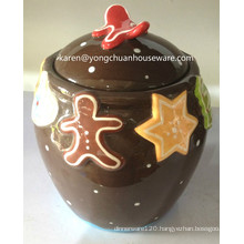 Hand-Painted Snowman Cookie Canister