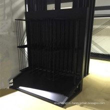 Artificial Quartz Stone Metal Wing Display Stand
