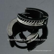 Vente chaude Huggie Boucles d'oreilles noires Boucles d'oreilles clip bijoux HE-100