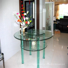 Round Clear Glass Top, Glass Ding Table Top para Compradores