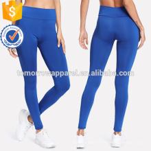 Leggings maigres taille élastique bleu OEM / ODM Fabrication en gros de mode femmes vêtements (TA7040L)