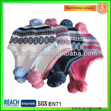 Girls crochet winter beanie with earmuff BN-2636