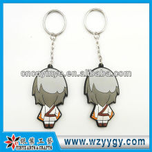 Cartoon 2D rubber key ring antique type