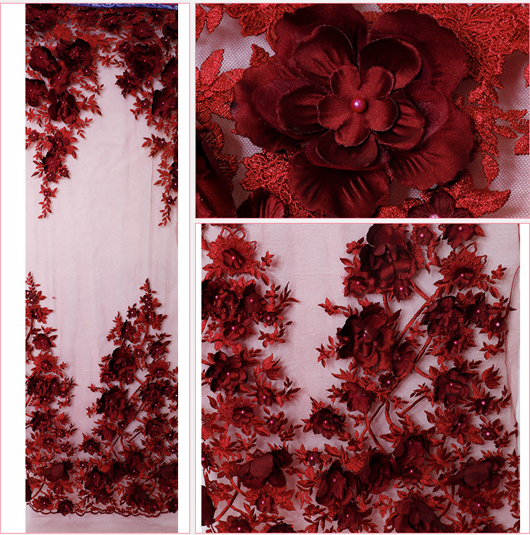 3d lace fabric