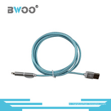 2 in 1 Fiber USB Data Cable Power Cable