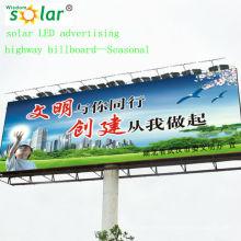 Cartelera de estilo CE LED solar luz; publicidad solar iluminación system(JR-960)