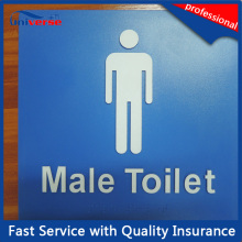 O ABS feito sob encomenda fêz sinais públicos do toalete / quarto / cuidado