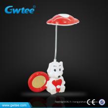 Lampe de table mini dessin animé LED avec miroir