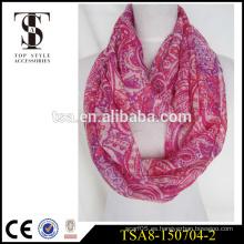 La seda de la alta calidad como la bufanda del infinito imprimió el producto impreso digital 100% de la garantía del comercio de la bufanda del poliester
