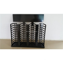 Black Metal Stone Showroom Counter Top Display Furniture 40 Pieces Granite Tile Display Rack