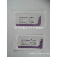 Suture chirurgicale Absorbable Polyglycolic Acid