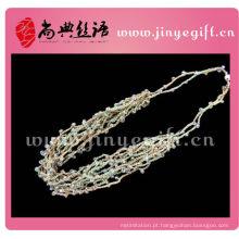 China Jóias Trançado De Malha Multi Strand String Colar