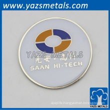 custom zinc alloy/copper badge pns for promotion, with design draft