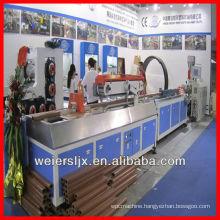 lesco wood plastic composite pvc profile machine