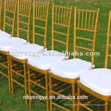 China Fabrik Gold Harz Tiffany Stuhl