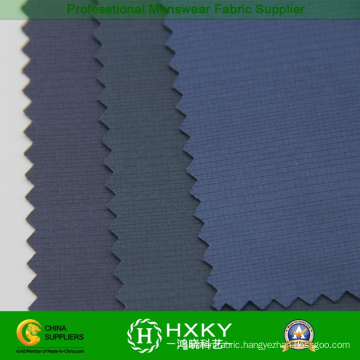 Black Yarn Polyester Pongee Fabric with Knit Fabric for Outer Coat