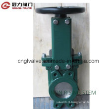 Válvula de portão da faca da haste do Non-Rising para a indústria do tratamento de água