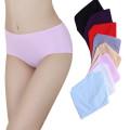 Puro Color Diseño Simple Silk Ice Office Panty Panty Mujeres Panty Confortable Mujeres Briefs Sin Costura