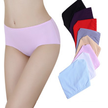 Puro Color Diseño Simple Silk Ice Office Panty Panty Mujeres Panty Confortable Mujeres Briefs Sin Costura