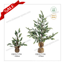 H40-70cm Popualr Snowing Artificial Tree Christmas Decoration Craft