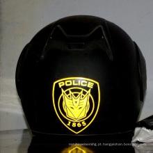capacete reflexivo da motocicleta das etiquetas da segurança fluorescente de forma redonda