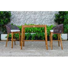 Top vendiendo todo el tiempo PE Rattan Bar Set para muebles de jardín al aire libre