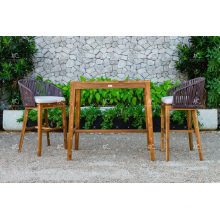 Top Selling All Weather PE Rattan Bar Set For Outdoor Garden Furniture