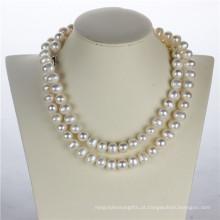 11-12mm Forma de batata White Pearl Fashion Necklace