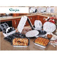 Printing Flower Carbon Steel Non Stick Cake Mold, Bakeware Set