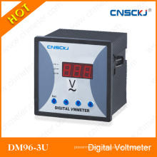 96*96 Three Phase AC Voltmeter LED Digital Meter Voltage Voltage Dm96-3u-1