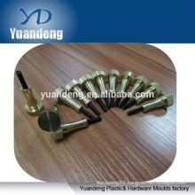 Custom Brass Polished knurled thumb screw