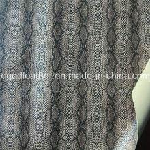 Superfície de cobra de couro de sapatos de dupla face PU (QDL-SP039)