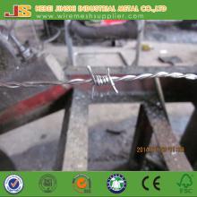 Fil barbelé à double torsion galvanisé fabriqué en Chine