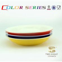 Turkish japanese glazed ceramic round red rice bowls for sale 11 inch