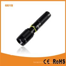 Lanterna recarregável do banco do poder do USB de CREE Xm-L T6 (Poppas-6618)