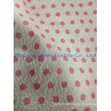 polyester cotton print emboss seersucker