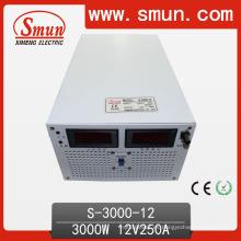 3000W 12VDC Fuente de alimentación de conmutación de salida simple (S-3000 con entrada seleccionada)