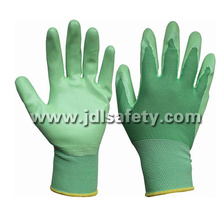 Nylon Knitted Working Gloves with Smooth Nitrile Coated (N1569C)