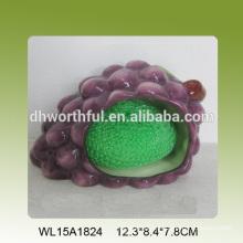 Виноградный декоративный кухонный держатель керамической губки